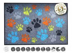 Tierische FußmattenHunde & Katzen Designer Fußmatte: Pfoten…