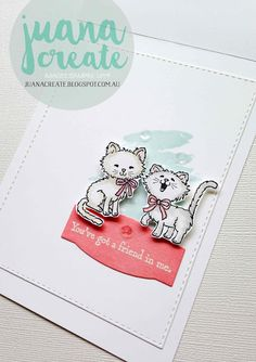 """Juan Ambida Independent Stampin' Up!® Demonstrator Australia: Pretty Kitty - """"You've got a friend in me""""."""
