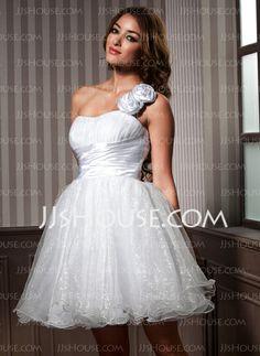 Homecoming Dresses - $119.99 - A-Line/Princess One-Shoulder Knee-Length Taffeta Organza Homecoming Dress With Ruffle Flower(s) (022020978) http://jjshouse.com/A-Line-Princess-One-Shoulder-Knee-Length-Taffeta-Organza-Homecoming-Dress-With-Ruffle-Flower-S-022020978-g20978