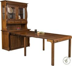 Perfect Flanders Pull Out Table With Hutch