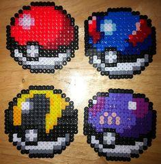 Pokeball Perler Bead Sprites by Viverra1 on DeviantArt