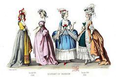 French Fashion Plate - 1780-1789 by CharmaineZoe, via Flickr