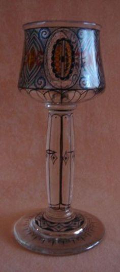 Sammlerglas-Jugendstil-Glaspokal-Fachschule-Haida-um-1915-20.