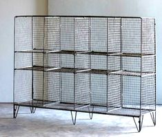 industrial wire gym shelving bookcase metal jennifer price studio solo cedros