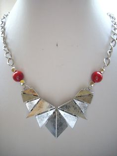 Large Geometric Triangle Antique Silver by DesignsbyPattiLynn, $50.00