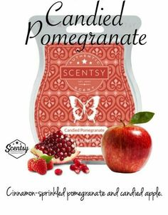 DESCRIPTION: Cinnamon-sprinkled pomegranate and candied apple.