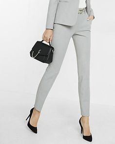 Mid Rise Columnist Ankle Pant (Express) - Up to Size 18!