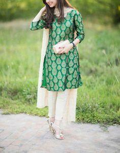 Buy lastest womens kurta and shalwar kameez in Pakistan at Oshi. Book Online affordable womens kurta and shalwar kameez in Karachi, Lahore, Islamabad, Peshawar and All across Pakistan. Simple Dresses, Casual Dresses, Fashion Dresses, Pakistani Outfits, Indian Outfits, India Fashion, Asian Fashion, Style Fashion, Desi Wear