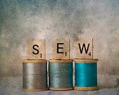 I have the Sewing blues- fine art photograph for the sewing enthusiast in your life