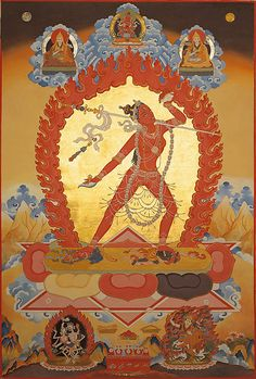 When we go beyond intellectual perception of our cyclic round of 'existence' and we decide to transform our body, speech and mind into something virtuous, we have arrived at the entrance of Vajra Yogini's realm. When by surrender all ego grasping and self centredness, we evolve into going beyond the self, deluded perception, acting upon reaction and following fear actions as if it's our refuge, we entered into Her realm. By taking up Vajra Yogini's practice, meditation, sadha