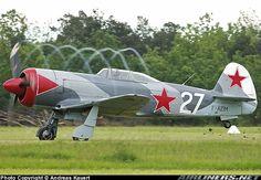 Lavochkin La-5 and its propwash.