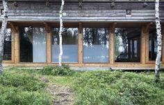Glass and wood facade. Cabin, Hemsedal, Hille Strandskogen Arkitekter