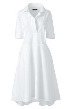 Women's Plus Size Short Sleeve Popover Shirtdress