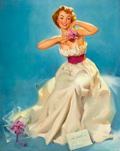 Gay Nymph Vintage Gil Elvgren Pinup Girl Vintage Poster