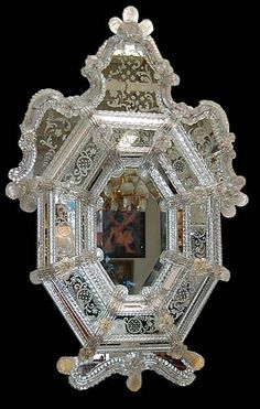Fabulous French Antique Murano Venetian Mirror