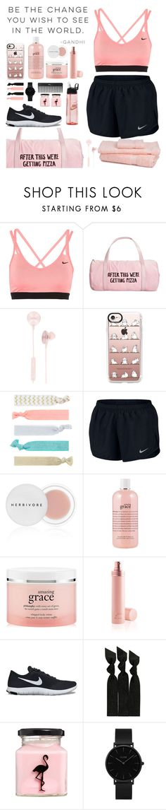 """Untitled #121"" by kell-a ❤ liked on Polyvore featuring Alo Yoga, NIKE, ban.do, i.am+, Casetify, Accessorize, Herbivore, philosophy, Jean-Paul Gaultier and Emi-Jay"