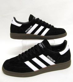 Adidas Spezial (Special) Black with White Stripe. Adidas Spezial, Adidas Originals, Football Fashion, Retro Sneakers, School Shoes, Victorias Secret Models, Milan Fashion Weeks, Shoes Outlet, Black Adidas