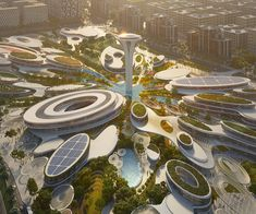 Zaha Hadid Architects to design Aljada Central Hub in Sharjah - Architektur Architecture Design, Concept Architecture, Futuristic Architecture, Landscape Architecture, Landscape Design, Sustainable Architecture, Zaha Hadid Design, Futuristic Interior, Futuristic City