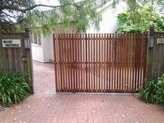No 3 - TMGC / Matching automatic sliding gate for main drive. FAAC gate motors. www.themotorisedgatecompany.com.au