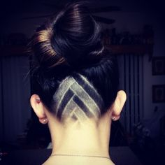 Undercut Shaved Hair Designs for Girls Undercut Designs, Undercut Hairstyles, Pretty Hairstyles, Hair Designs For Girls, Shaved Hair Designs, Hair Tattoos, Great Hair, Hair Dos, New Hair