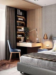 38 Trendy Home Bedroom Design Small Rooms Apartment Interior Design, Modern Interior Design, Interior Ideas, Design Interiors, Apartment Ideas, Apartment Bedrooms, Interior Office, Interior Colors, Modern Interiors