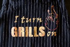 Father's Day Idea -  grill apron and fire cake!