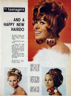 """1966 hairdos """"for teenagers """""""