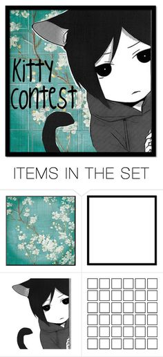 """""""Kitty Contest"""" by xx-secret-xx ❤ liked on Polyvore featuring art"""