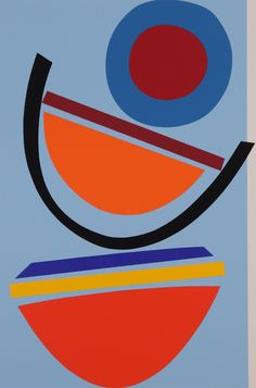 Swing blue Silkscreen Print by Sir Terry Frost