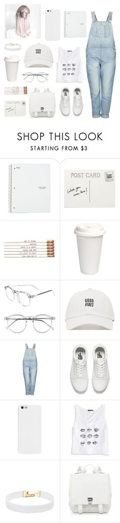 """""""Untitled #310"""" by mildabas ❤ liked on Polyvore featuring Club Monaco, Wildfox, Topshop, Vans, American Eagle Outfitters, Vanessa Mooney and Proenza Schouler"""