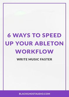Learn how to produce music faster in Ableton Live using project templates, default audio effect presets, and more. Audio Engineer, Ableton Live, Music Production, Music Stuff, Helpful Hints, Templates, Writing, Learning, Tutorials