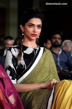 Deepika Padukone in Dev R Nil Sari at NDTV Indian of the Year Awards