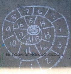 Check out 30 things to do with sidewalk chalk and add a bit of Walkie Chalk to it!