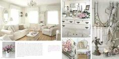 Some shabby chic ideas. From: vintagerosecollection.