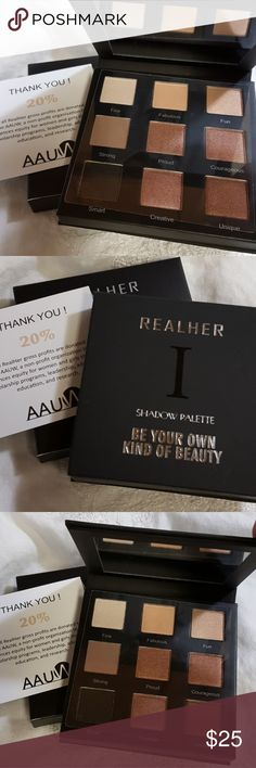 🌱RealHer Play Book🌱 🌱This Shadow Play Book comes with Rich hues and Sexy combos😘  *Paraben Free *Vegan *Certified Cruelty Free *Long Wearing *All Natural Ingredients  *Sulfate Free  🌱Never Tested, New and Ready to Fly!😄All Organic Lovers will Fall in Love with this Brand!❤ RealHer Makeup Eyeshadow