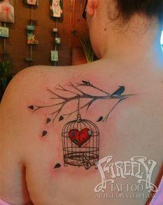 bird in cage tattoo | Tattoos / birdcage tattoo