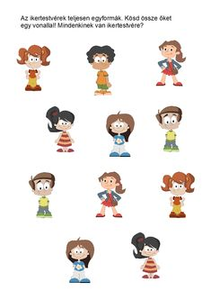 Milyen is vagyok? Cicely Mary Barker, Printable Worksheets, Hello Kitty, Snoopy, Teaching, Comics, Fictional Characters, Activities, Education