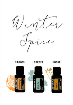 Winter Spice diffuser blend. Diffuse for a warm, spicy scent.