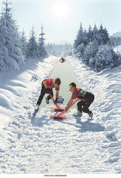 """Haderer-Karikatur vom 24. Jänner 2015: """"Sportliche Schneeräumung"""" Mehr Karikaturen auf: http://www.nachrichten.at/nachrichten/fotogalerien/cme14862,1201725 (Bild: Haderer)"""