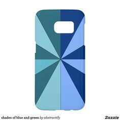 shades of blue and green samsung galaxy s7 case