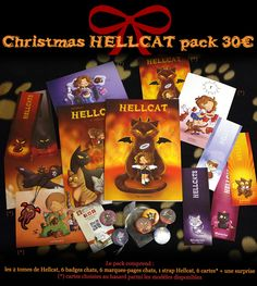 Christmas Hellcat Pack: 2 tomes Hellcat, 6 badges, 6 marques-pages, 6 cartes, 1 strap Hellcat.  http://hellcats.mimikaweb.fr/