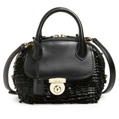 c848429a565f Salvatore Ferragamo  Fiamma  Fringe Satchel Nero - product - Product Review  Wallets For Women