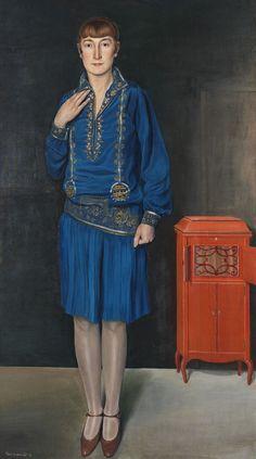 Meine Frau mit Grammophon, 1927 by Kurt Weinhold (German, 1896-1965)