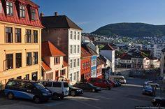 A street near Bergen harbor