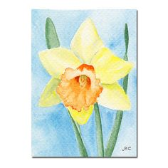 Original ACEO Watercolor Painting  DAFFODIL by lamaisondefloria, €9.00