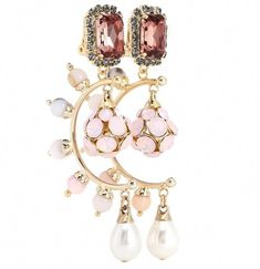Erdem Crystal drop clip-on earrings #cliponearrings