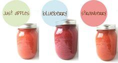 Homemade All Natural Applesauce Fruit Blends