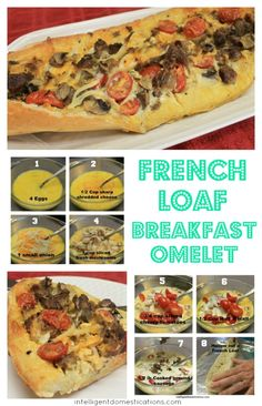 French Loaf Breakfast Omelet | Intelligent Domestications