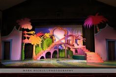 Seussical - way more designed than I will be able to do but I love the stairs!