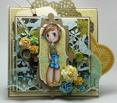 Some Odd Girl featured digi: Summer Kaylee by Marilyn Provost. She Is Gorgeous, Project Board, Girl Blog, Digital Stamps, Clear Stamps, I Card, Summer, Projects, Crafts